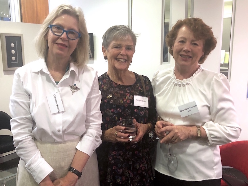 Catherine Baudet, Robyn Taylor and Anne-Marie Trout