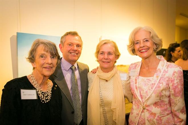 Janet Conrad, Philip Bacon, Gina Fairfax and Quentin Bryce